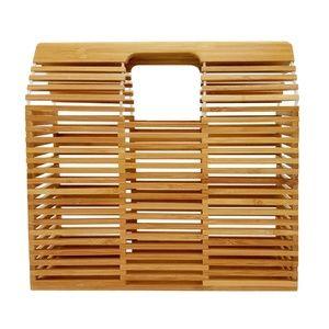 Handbags - Bamboo Vintage Style Summer Tote Square Shape